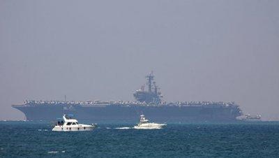 В Израиль прибыл американский авианосец
