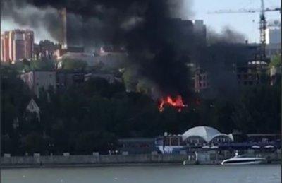 Большой пожар в Ростове