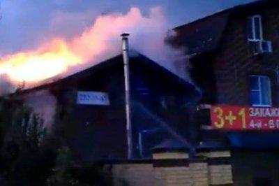 Вместе с баней сгорела гостиница на Стачки в Ростове