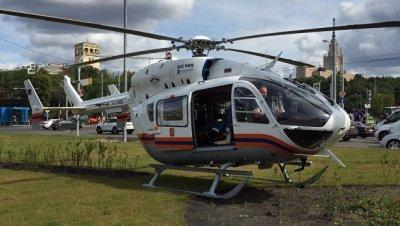 Санитарный вертолет эвакуировал из Новой Москвы мужчину с сильными ожогами