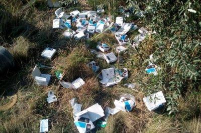 На трассе Ростов–Азов нашли свалку из выпотрошенных посылок