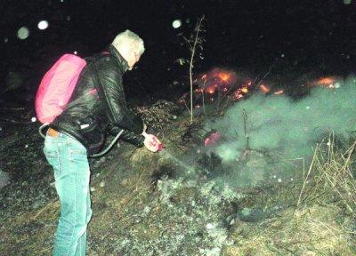 В Белокалитвенком районе горела степь