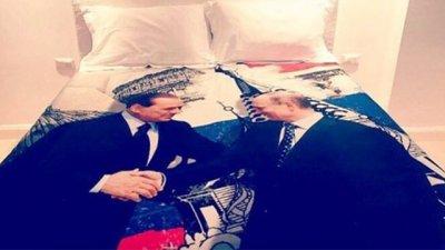 Берлускони подарил Путину пододеяльник