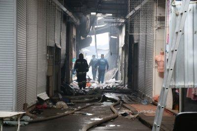 Пожар на рынке «Темерник» полностью ликвидирован