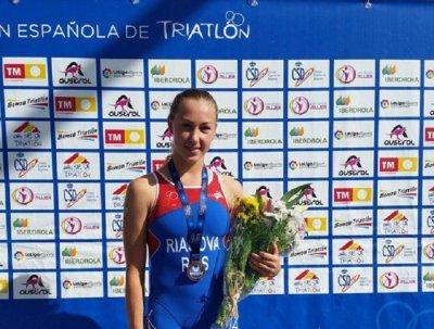 Ростовчанка Валентина Рясова выиграла бронзовую медаль по триатлону в Испании
