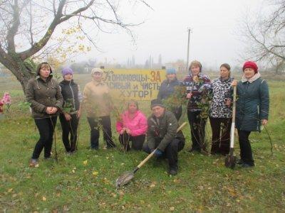 Социальные работники в Кононове высадили дубки, тополя и фруктовые деревья