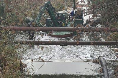 В Ростове расчищают реку Темерник