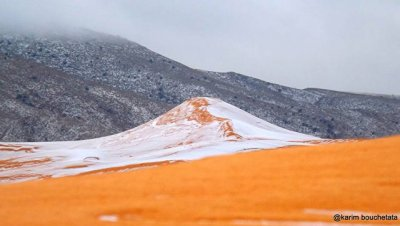 В Сахаре второй год подряд выпал снег