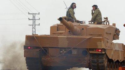 В Африне подбили турецкий танк