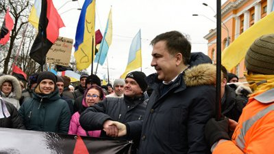 Саакашвили заявил, что марш его сторонников видели представители Порошенко