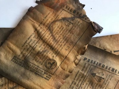 В Ростовской области нашли немецкий снаряд времен войны с агитлистовками