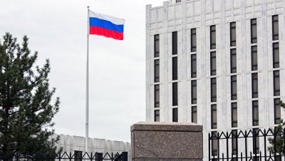 Неизвестный попытался проникнуть в посольство России в США