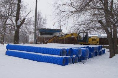 ООО «Полимерспецстрой» продолжает работы по замене трех канализационных коллекторов