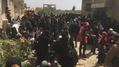 В Сирии вновь открыт гумкоридор для вывода боевиков из города Дума