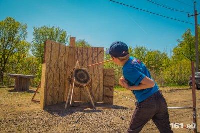 В Ростове впервые прошёл фестиваль Шермиции: оружие, кони, метание дротико