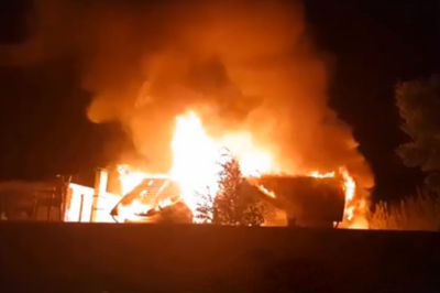 В Ростове-на-Дону сгорел банный комплекс