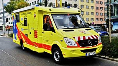 В Праге автобус с польскими туристами столкнулся с грузовиком