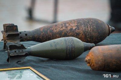 В Неклиновском районе нашли шесть боеприпасов времен Великой Отечественной войны