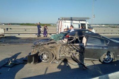 Из-за аварии на Ворошиловском мосту образовалась огромная пробка