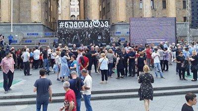В Тбилиси задержали двух человек на акции протеста
