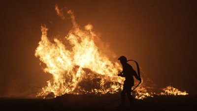 В Эстонии вновь вспыхнул пожар на военном полигоне