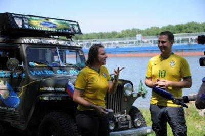 Машина 46-го года и 43 страны: болельщики из Бразилии рассказали о путешествии в Ростов