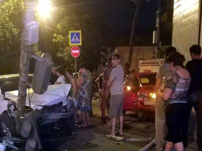 Ростовчанка пострадала в столкновении двух иномарок