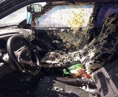В Ростове в легковушке взорвался баллон с монтажной пеной