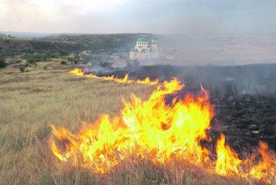 В Белокалитвинском районе произошёл пожар