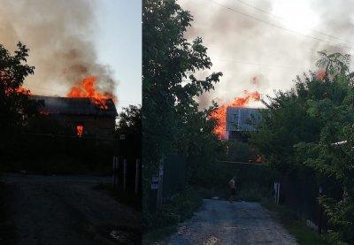 Около Ростовского моря сгорел дом