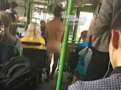 Голый ростовчанин катался в городском автобусе