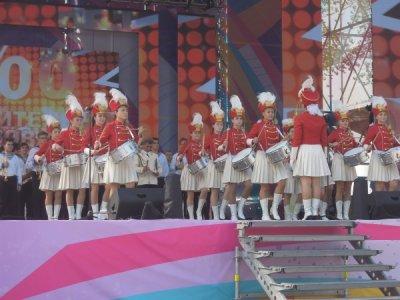 Ансамбль мажореток «Золотые эполеты» из Белой Калитвы побывал на фестивале «Возрождение»