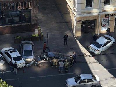 Стало плохо за рулем: на Красноармейской произошло ДТП с четырьмя автомобилями