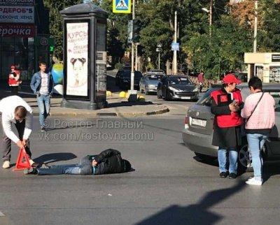 Нарушила правила: ростовчанка попала под колеса машины около торгового центра «Сокол»