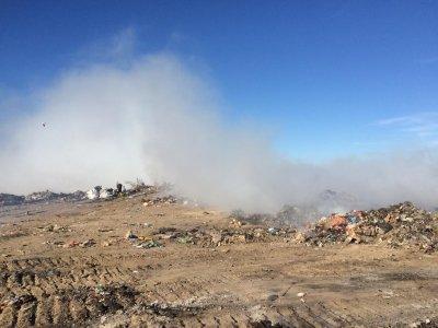 В Таганроге закроют сгоревшую городскую свалку