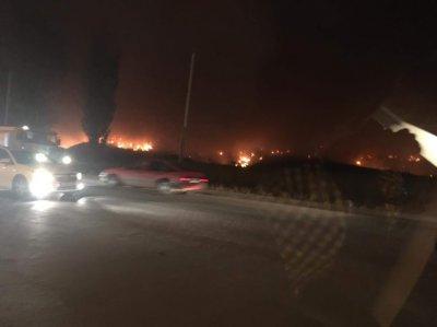 Ничего не видно из-за дыма: около Николаевского шоссе загорелась свалка