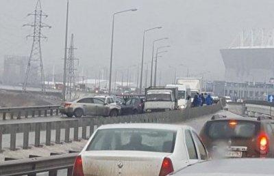В Ростове-на-Дону столкнулись семь автомобилей