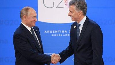 В Аргентине прокомментировали предстоящие переговоры Путина и Макри