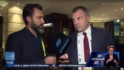 Муж Скабеевой не поддался на провокацию украинских журналистов о ее чести