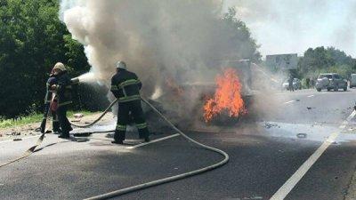 В Житомирской области 24 человека пострадали в ДТП с микроавтобусом