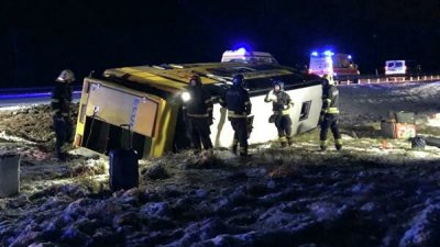 Россиянка пострадала в ДТП с автобусом, перевернувшимся в Эстонии