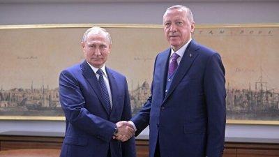 Путин поблагодарил Эрдогана за политическую волю