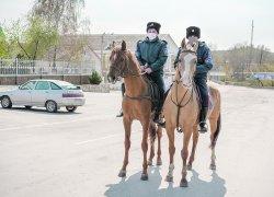 Казачья дружина в паре с сотруднкиами полиции несёт службу на улицах нашего города