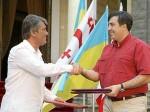 Саакашвили и Ющенко встретят новый год в резиденции Кучмы