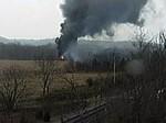 Железнодорожная катастрофа в штате Кентукки: опасные химикаты вспыхнули и попали в реку