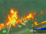 Товарный поезд доставил пожарным много хлопот