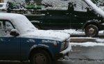 Снегопад парализовал Московскую кольцевую автодорогу
