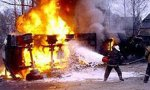 На питерском КАДе сгорел бензовоз с шестью тоннами топлива
