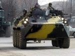 В Чечне подорвался БТР с военнослужащими