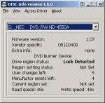 DISCInfo 1.6.1 - информация о IDE и SCSI устройствах